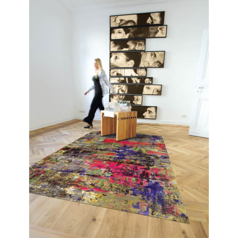 Tapis Imprim Color En Acrylique Pour Salon Action Art
