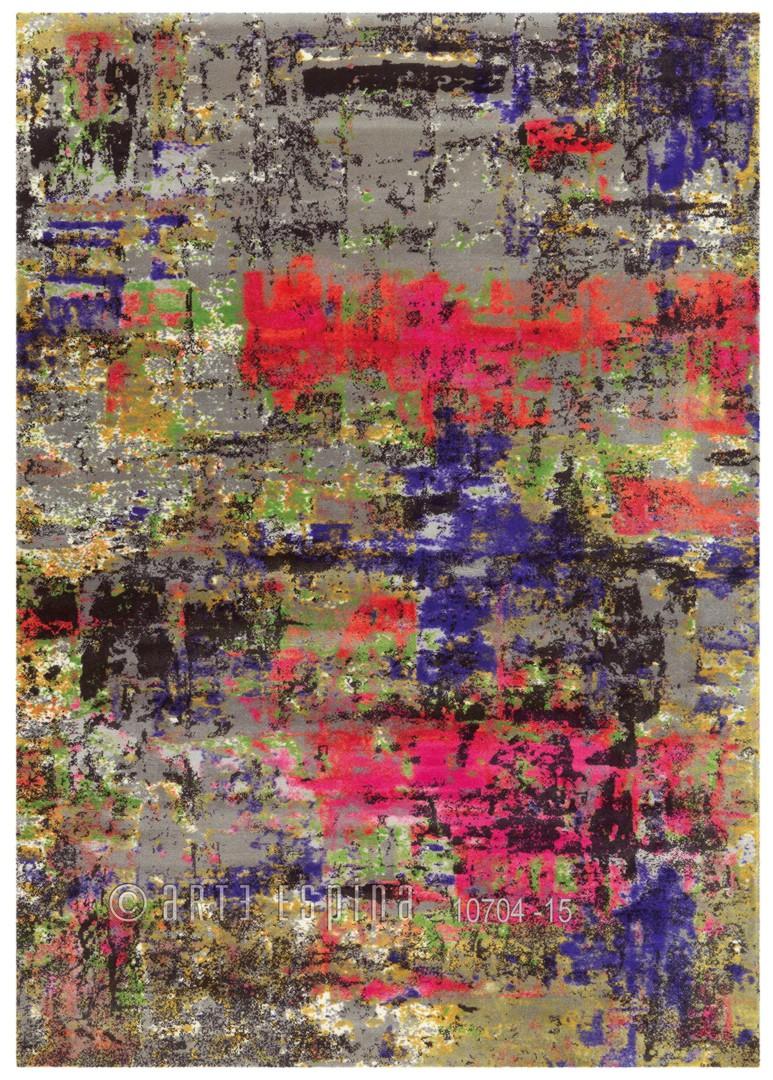 Tapis imprimé coloré en acrylique pour salon Action Art Arte Espina