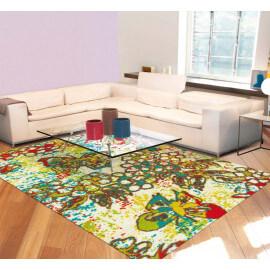 Tapis multicolore pour salon avec imprimé floral Paint Box Arte Espina