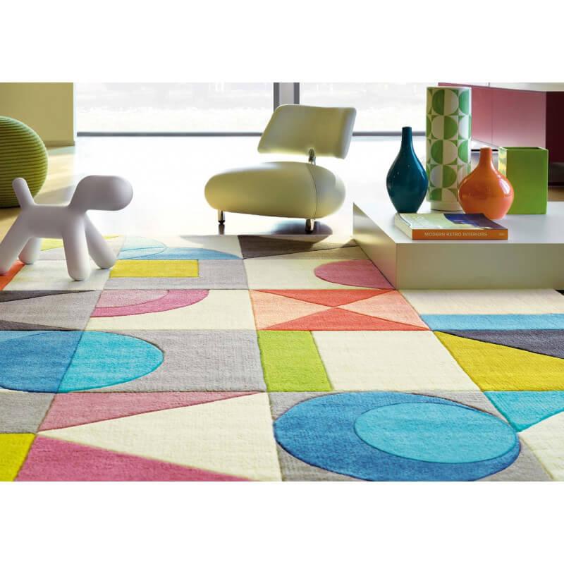 tapis salon multicolore gallery of tapis de salon comme dessins et motifs with tapis salon. Black Bedroom Furniture Sets. Home Design Ideas