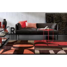 Tapis Arte Espina rouge pour salon design Lexis Arte Espina