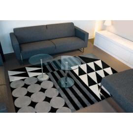 Tapis à motifs géométriques gris Ethno Pop Arte Espina