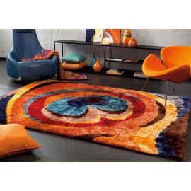 Tapis shaggy multicolore en polyester doux Funky Arte Espina