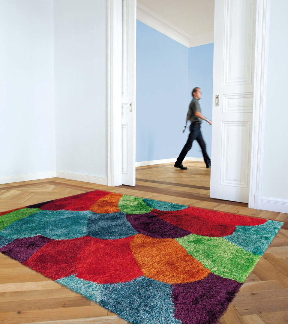 Tapis Salon Moderne Color
