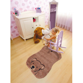 Tapis marron pour chambre de bébé Kids Ours Arte Espina