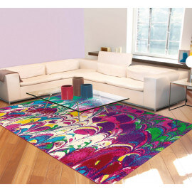 Tapis moderne violet d'intérieur rectangle Marble Arte Espina