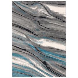 Tapis design gris à courtes mèches Moire Arte Espina