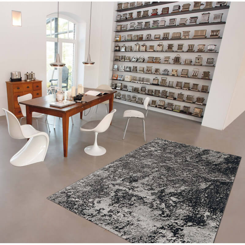 Tapis contemporain gris pour salle manger moon arte espina for Grand tapis pour salle a manger