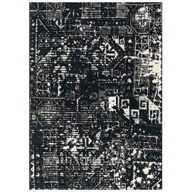 Tapis effet vintage en polypropylène noir Orient Arte Espina