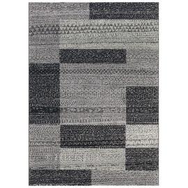 Tapis gris contemporain à courtes mèches Alpaca Arte Espina