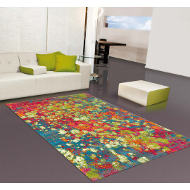 tapis multicolore arc en ciel de couleurs avec un tapis. Black Bedroom Furniture Sets. Home Design Ideas