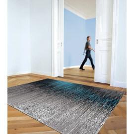 Tapis gris et bleu tendance pour salon Screen Arte Espina