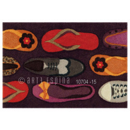 Tapis de propreté mauve lavable en machine Walking Arte Espina