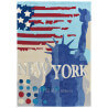 Tapis multicolore Down Town New York par Arte Espina