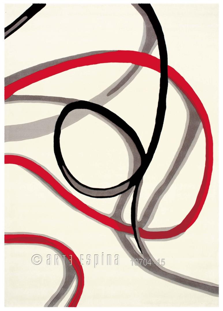 Tapis blanc Red Trace par Arte Espina