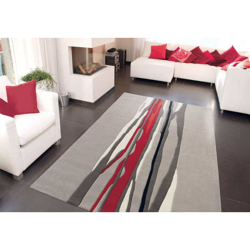 tapis gris red trace par arte espina. Black Bedroom Furniture Sets. Home Design Ideas