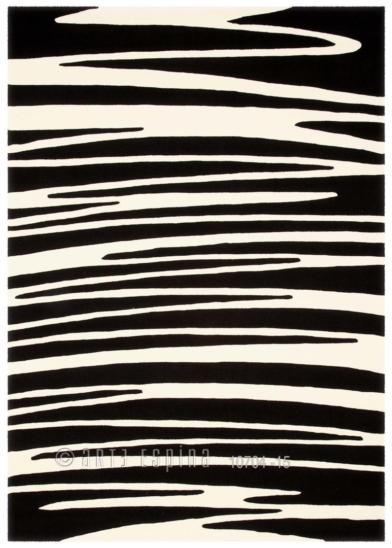 Tapis noir II Optical Art par Arte Espina