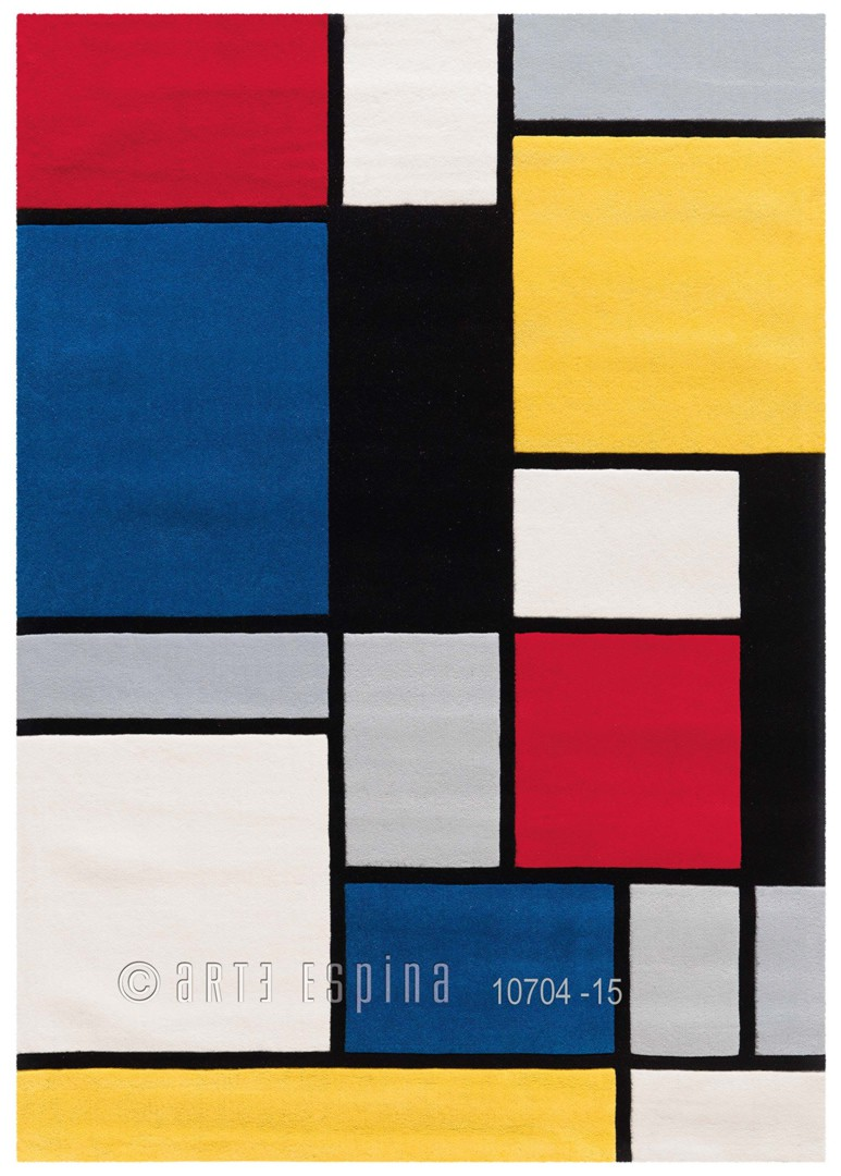 Tapis rectangle Coloured Cubes par Arte Espina