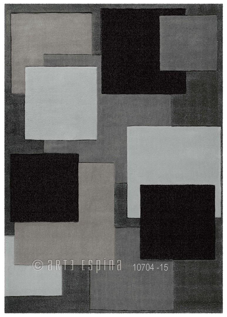Tapis gris Reflective II par Arte Espina