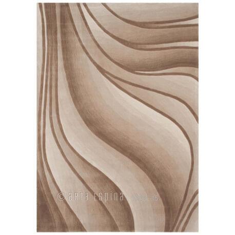 Tapis beige In Motion par Arte Espina