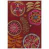 Tapis bambou Tropical Passion rouge par Arte Espina