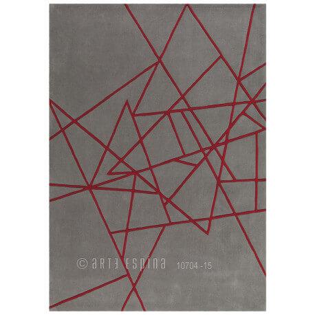 Tapis gris de salon Kinetic Arte Espina