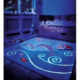 Tapis pour chambre enfant carré Glowy Arte Espina