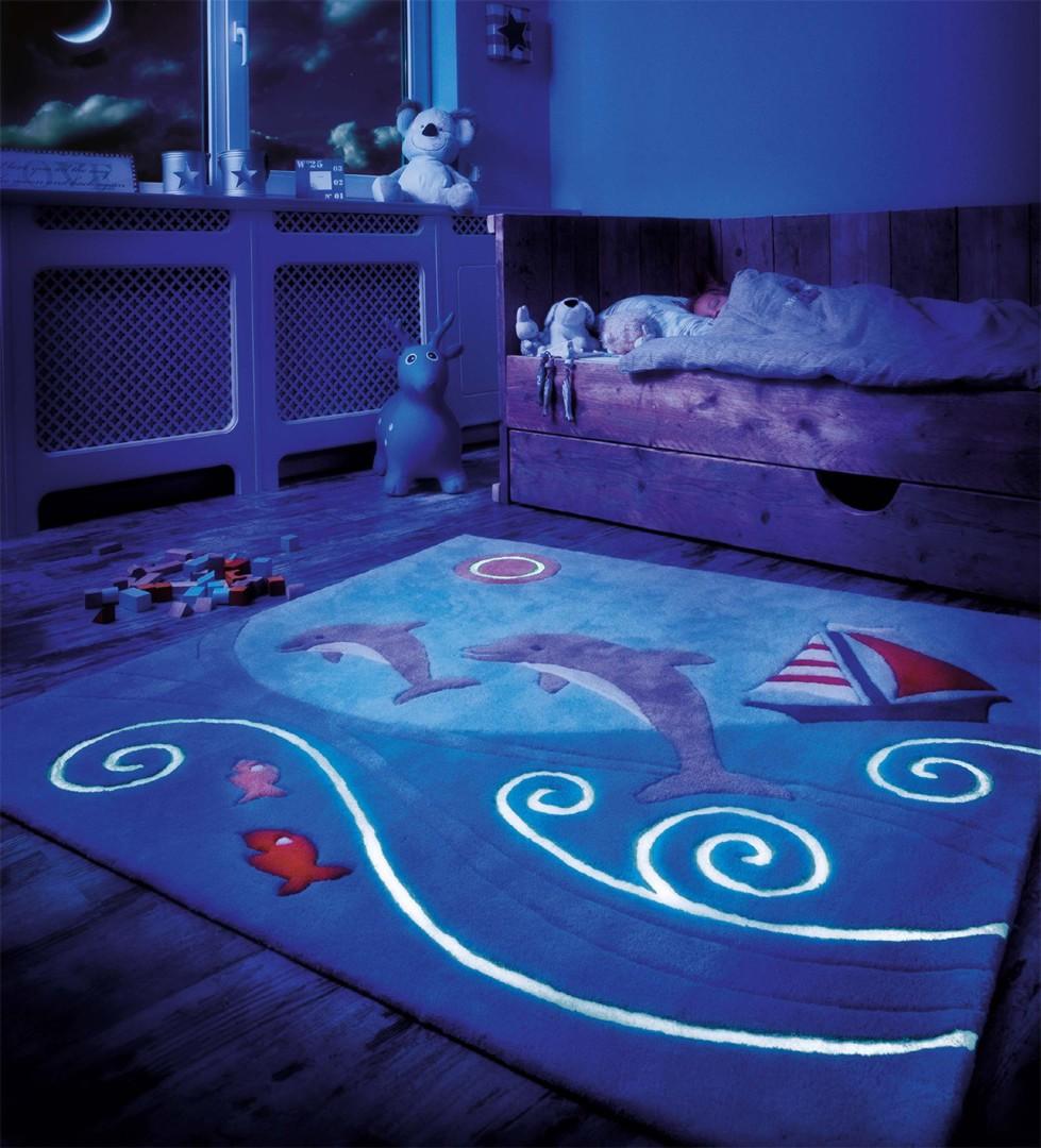 Tapis Pour Chambre Enfant Carre Glowy Arte Espina