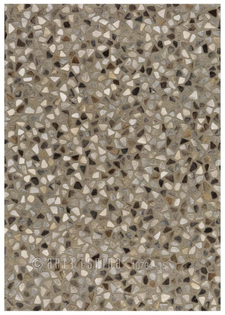 Tapis en cuir et coton gris Pioneer Arte Espina