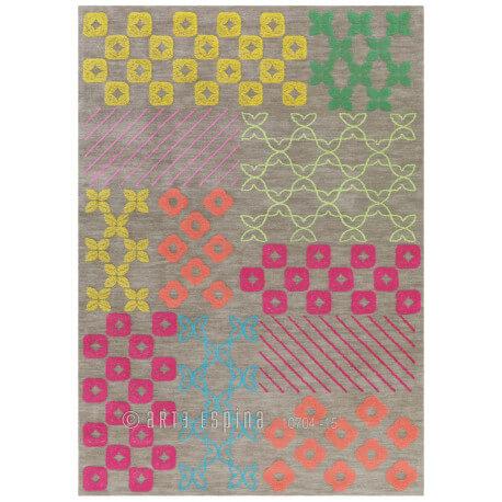 Tapis bambou Arte Espina pour salon gris Pattern Book