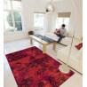 Tapis vintage imprimé en acrylique rouge Toile De Jouy Arte Espina