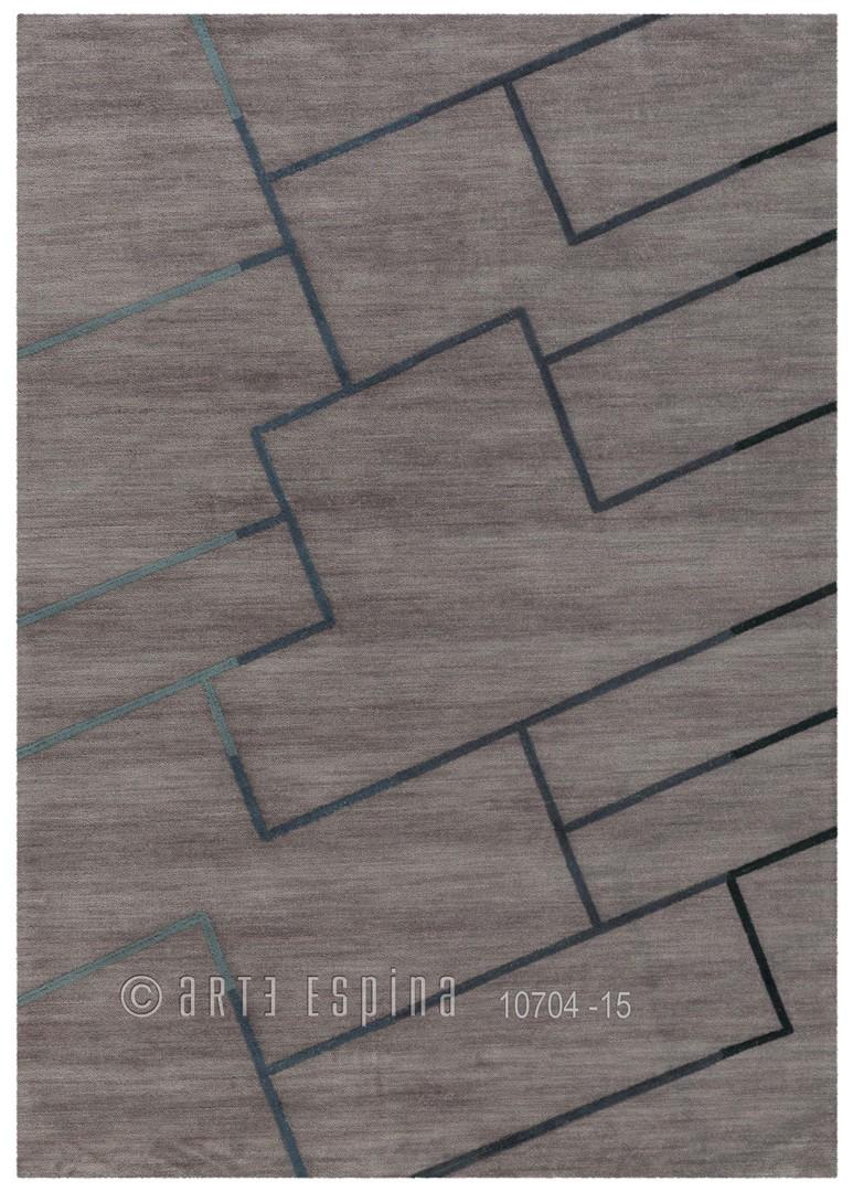 Tapis Arte Espina en polyester gris Sensor