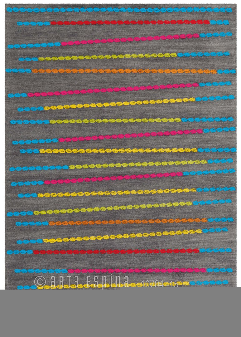 Tapis en polyester et acrylique taupe Rio Arte Espina