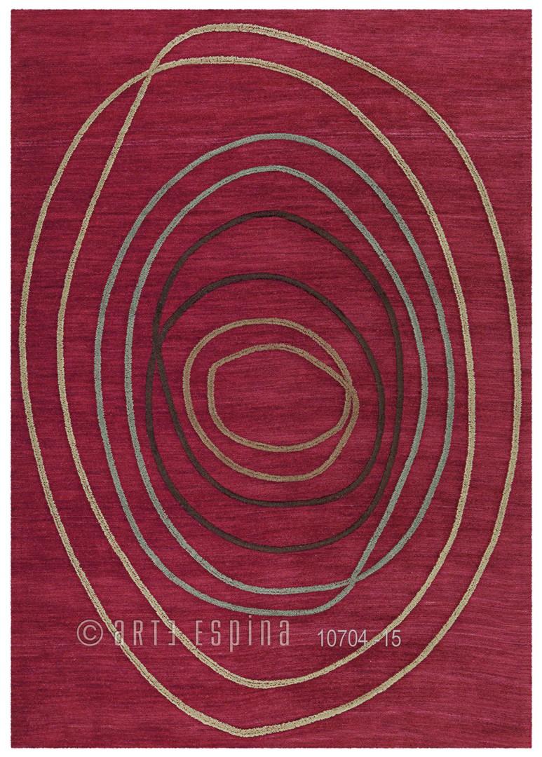 Tapis rouge en acrylique et polyester Tivoli Arte Espina