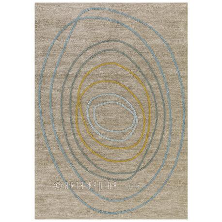Tapis gris en acrylique et polyester Tivoli Arte Espina
