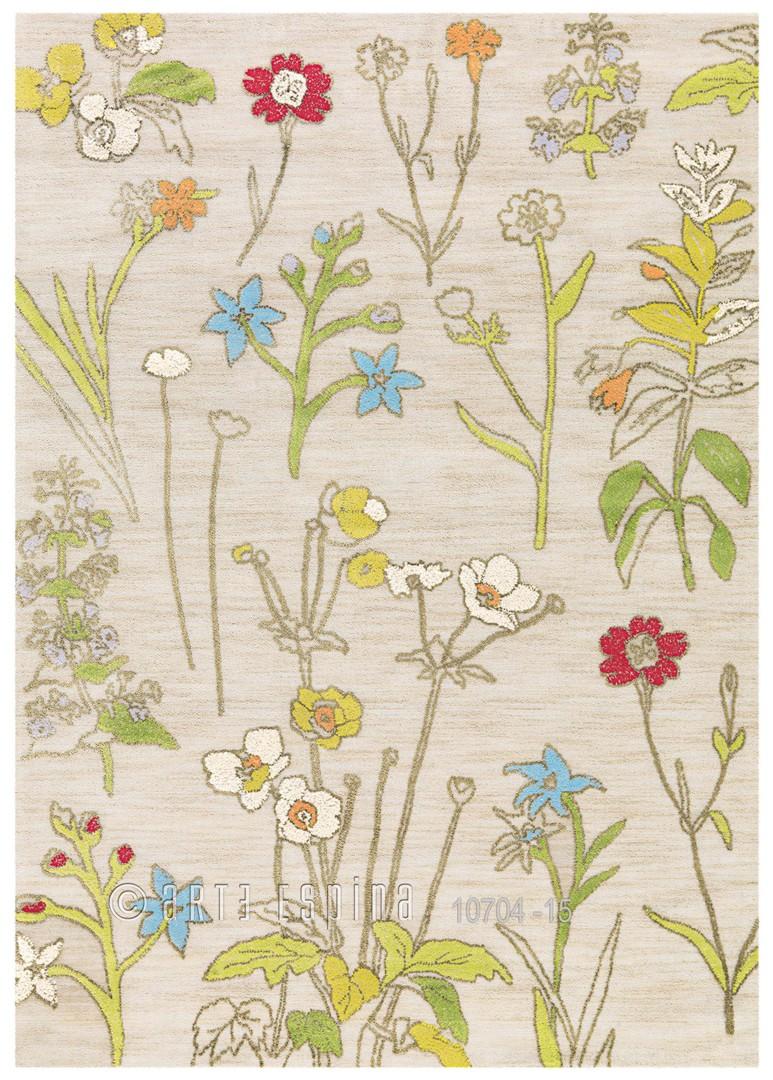 Tapis crème bambou et polyester Bloom Arte Espina