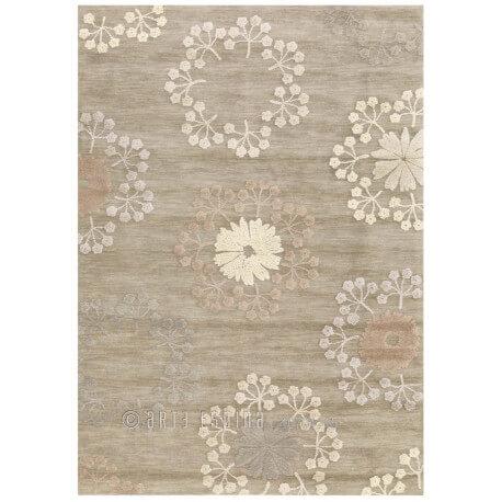 Tapis gris Arte Espina bambou et polyester Bloom