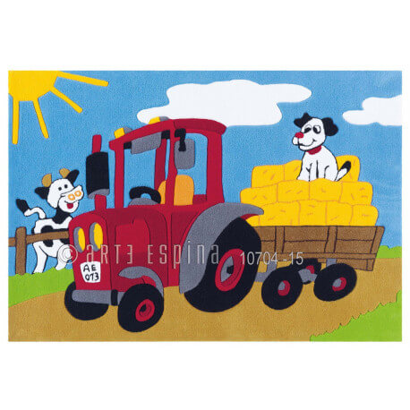 Tapis pour garçon multicolore Tractor Kids Arte Espina