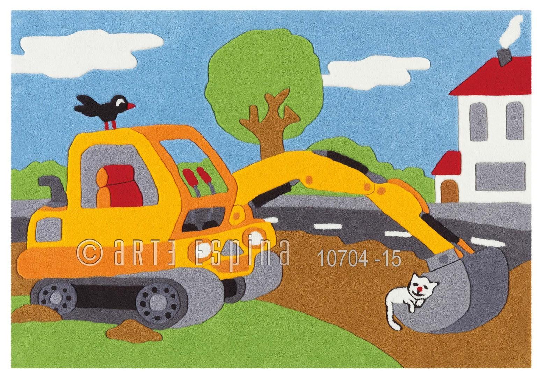 Tapis multicolore pour garçon Crane Kids Arte Espina