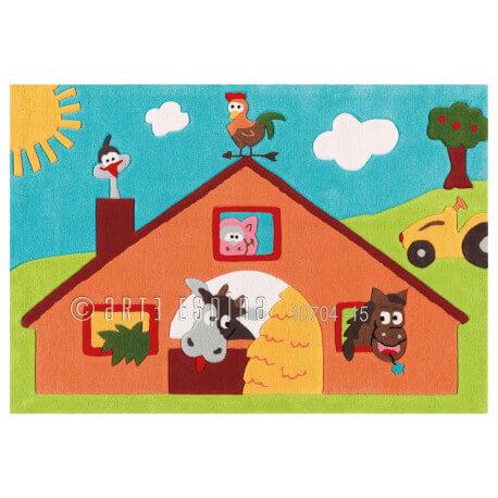 Tapis pour fille multicolore Farm Kids Arte Espina