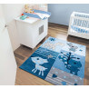 Tapis bleu pour chambre de bébé Tipoo Kids Arte Espina