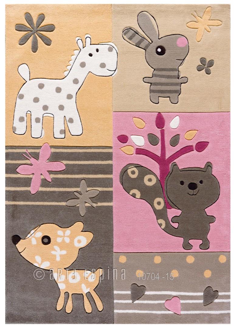 Tapis multicolore pour chambre de bébé Tipoo Kids Arte Espina