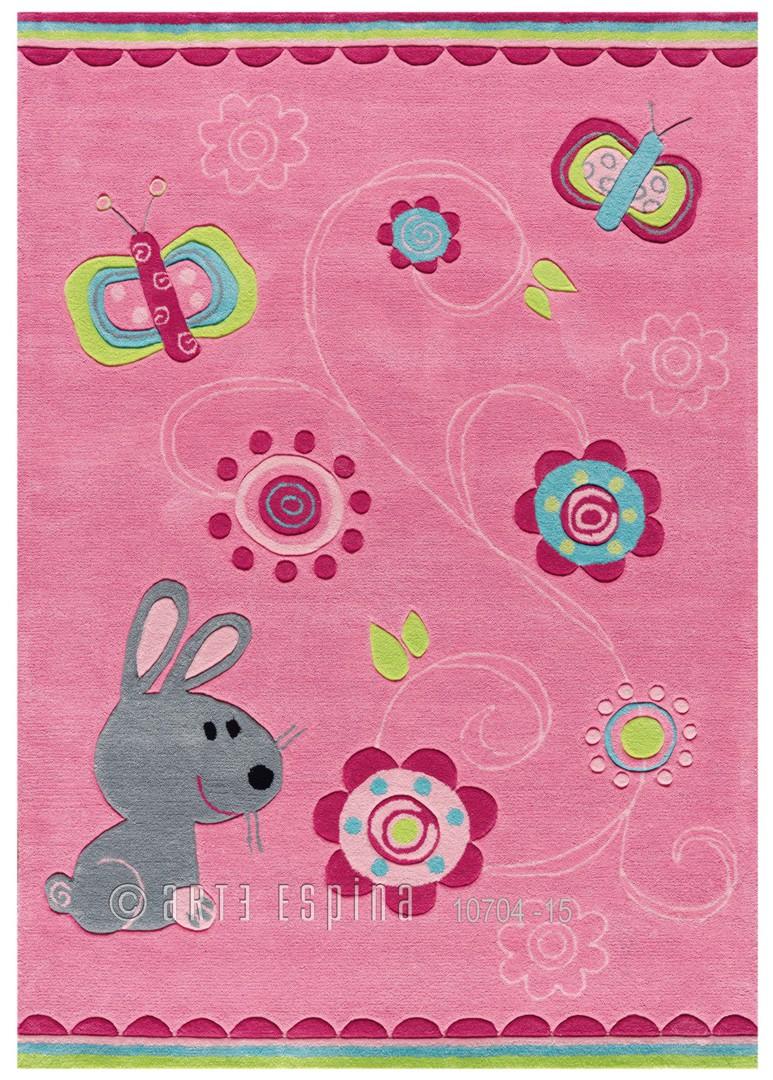 Tapis pour fille rose Dolly Kids Arte Espina