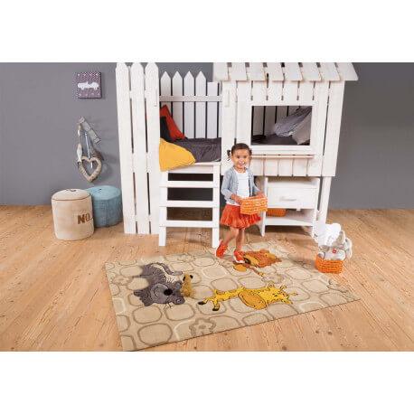 tapis pour enfant beige safari kids arte espina. Black Bedroom Furniture Sets. Home Design Ideas