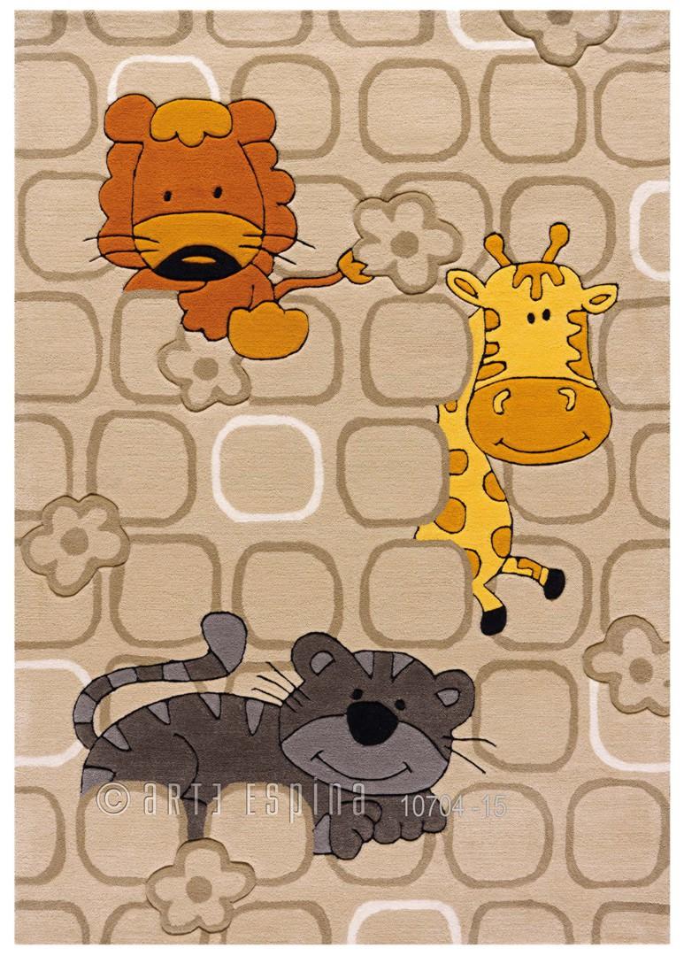 Tapis pour enfant beige Safari Kids Arte Espina