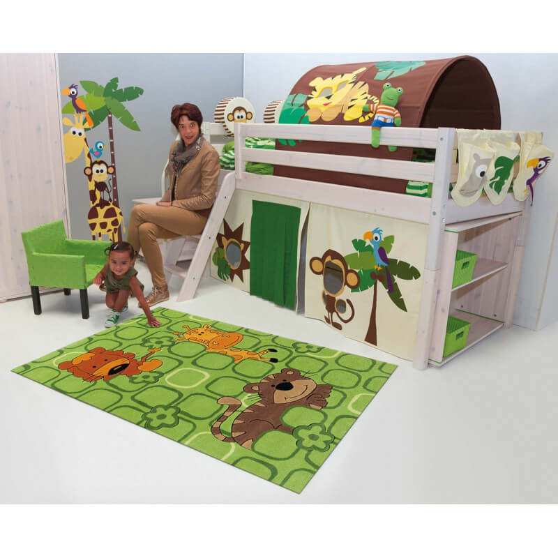 tapis pour enfant vert safari kids arte espina. Black Bedroom Furniture Sets. Home Design Ideas