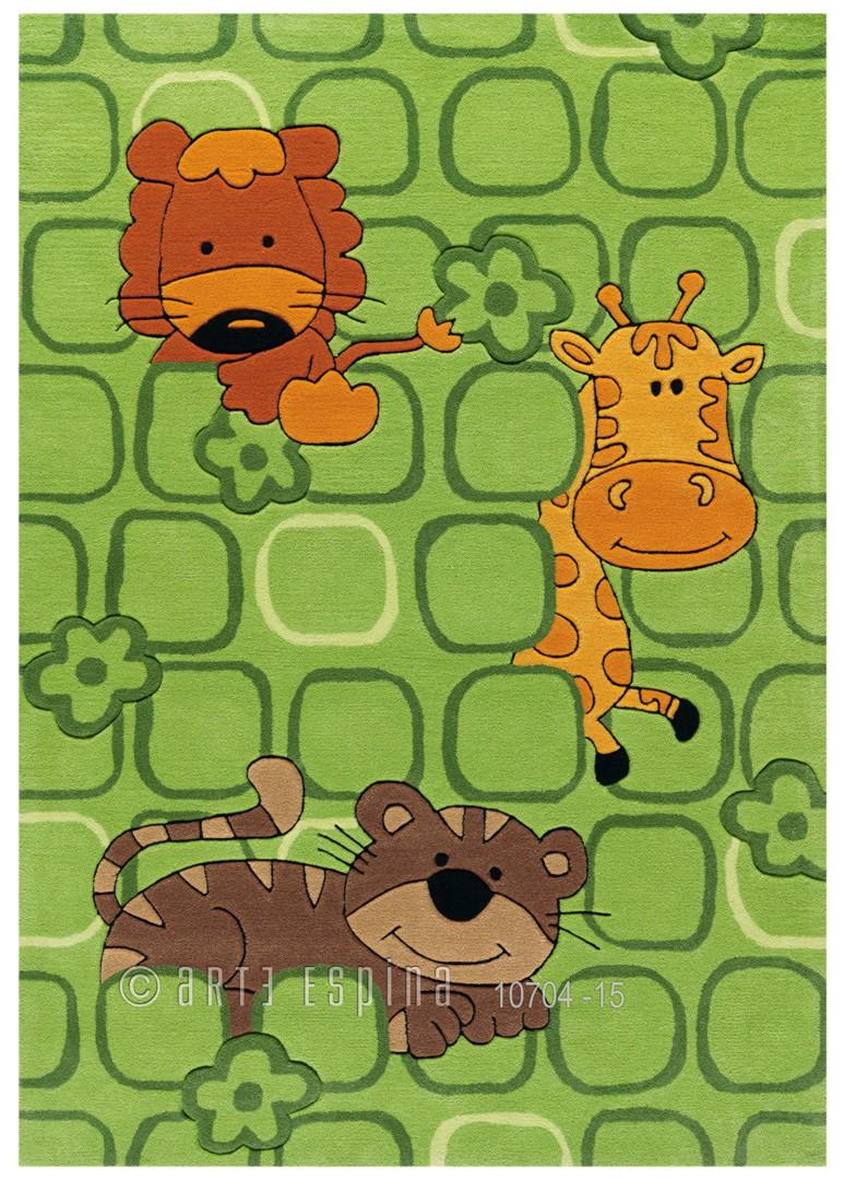 Tapis pour enfant vert Safari Kids Arte Espina