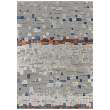 Tapis en laine de Nouvelle-Zélande gris Mosaic Arte Espina
