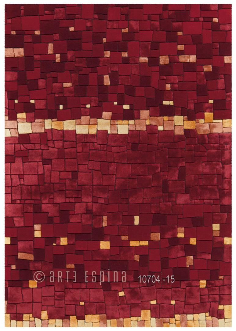 Tapis en laine de Nouvelle-Zélande rouge Mosaic Arte Espina