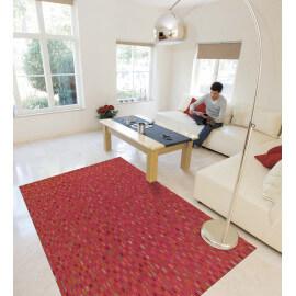 Tapis rouge en cuir pour salon Pioneer Arte Espina